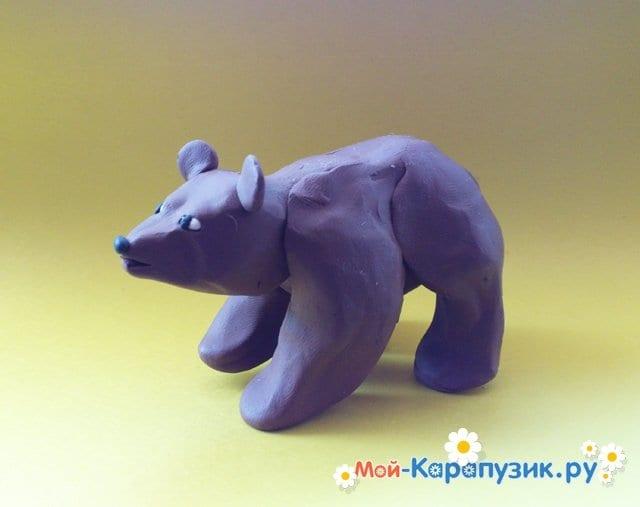 Лепка медведя из пластилина - фото 10