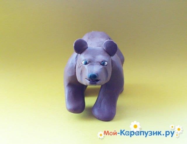 Лепка медведя из пластилина - фото 11