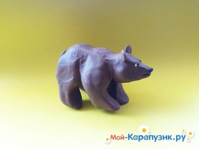 Лепка медведя из пластилина - фото 12
