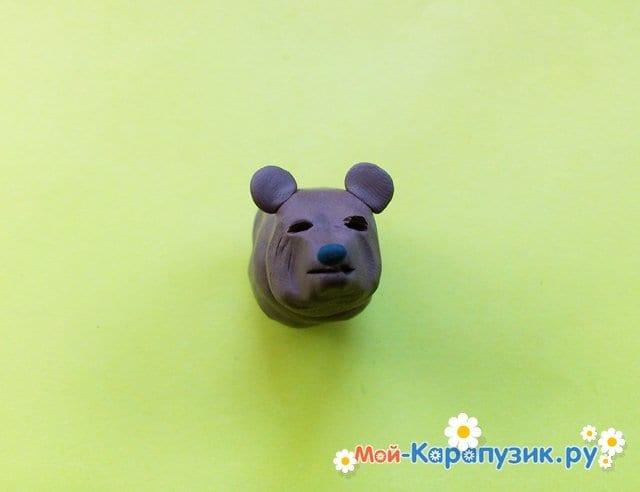 Лепка медведя из пластилина - фото 4
