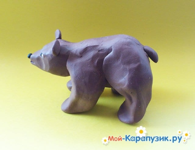 Лепка медведя из пластилина - фото 9