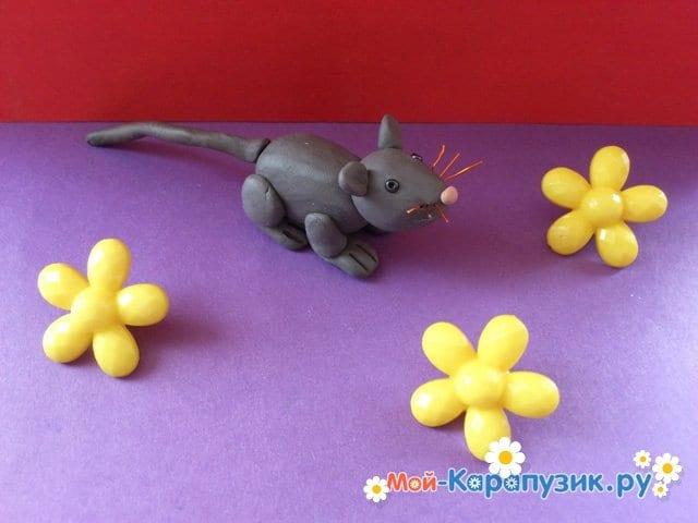 Лепка мыши из пластилина - фото 12
