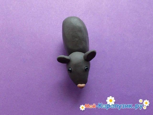 Лепка мыши из пластилина - фото 5