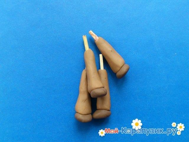 Лепка ослика из пластилина - фото 11