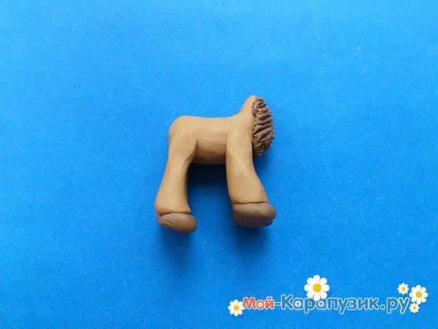 Лепка ослика из пластилина - фото 12