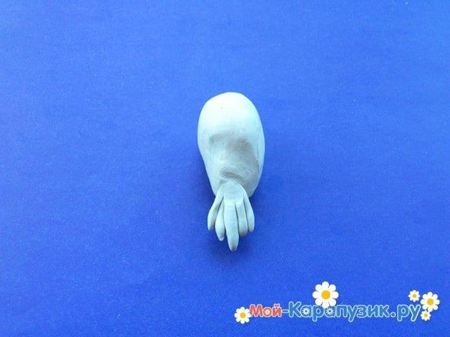 Лепка пеликана из пластилина - фото 5