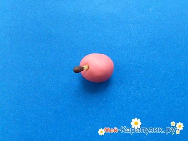 Лепка поросенка из пластилина - фото 8