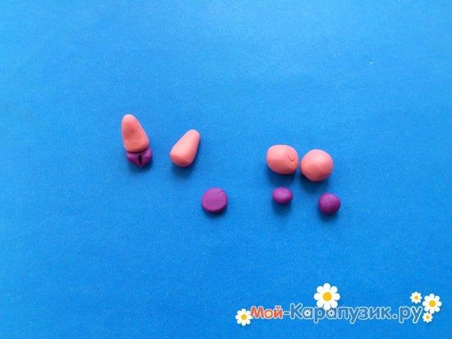 Лепка поросенка из пластилина - фото 9