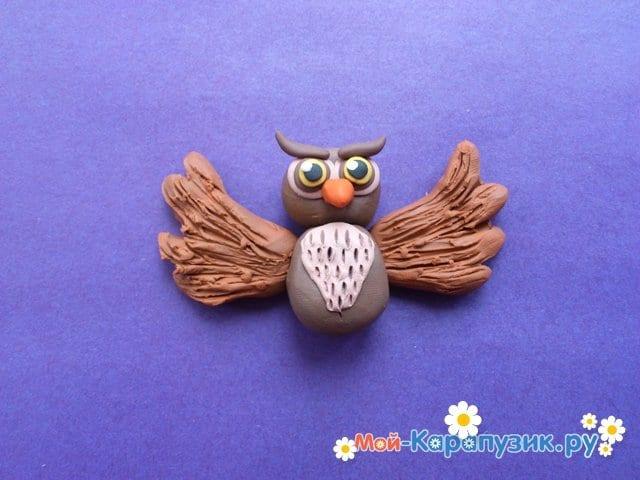 Лепка совы из пластилина - фото 10