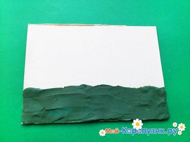 Лепка вулкана из пластилина - фото 2