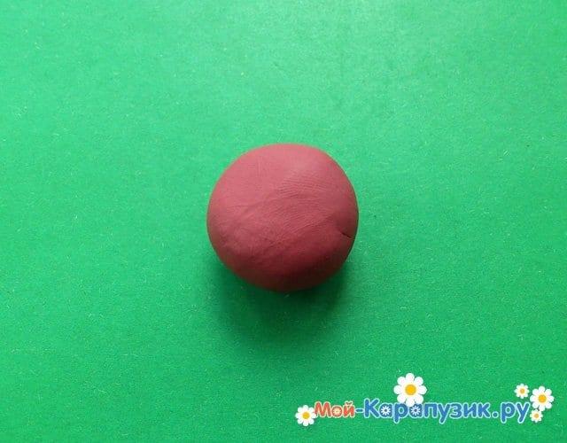 Лепка смешарика ежа из пластилина - фото 2