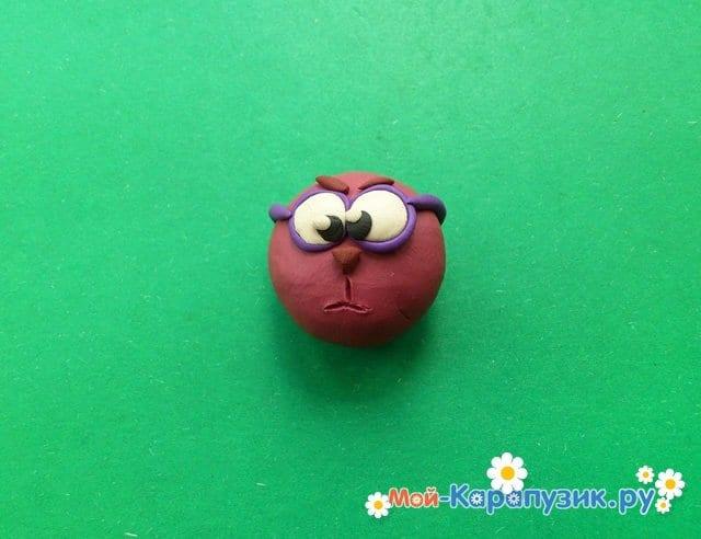 Лепка смешарика ежа из пластилина - фото 5