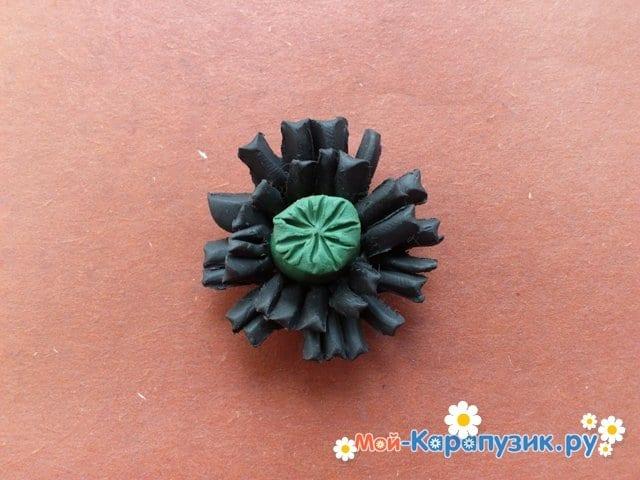 Лепка маков из пластилина - фото 11