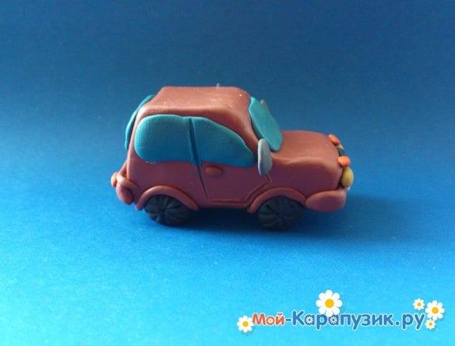 Лепка машины из пластилина - фото 11