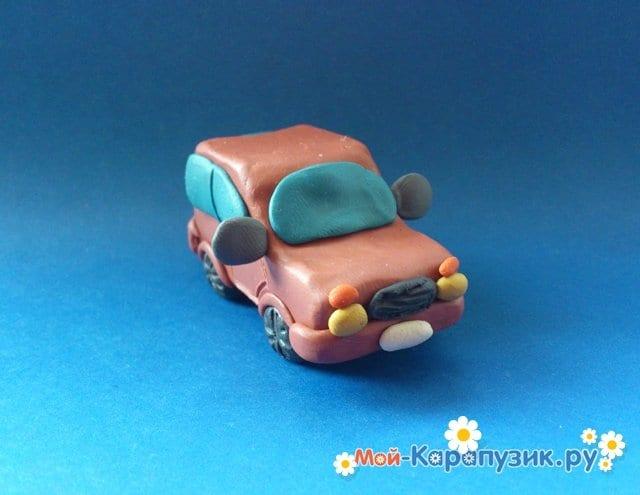 Лепка машины из пластилина - фото 12