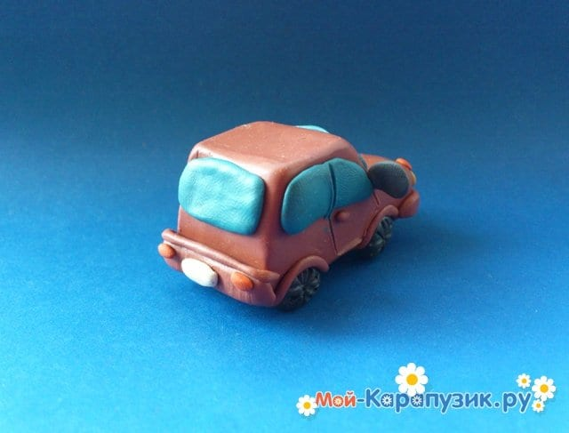 Лепка машины из пластилина - фото 13