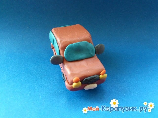 Лепка машины из пластилина - фото 14