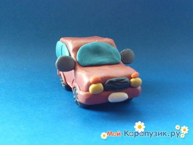 Лепка машины из пластилина - фото 15