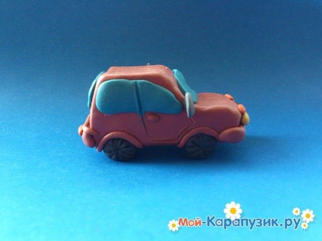 Лепка машины из пластилина - фото 16