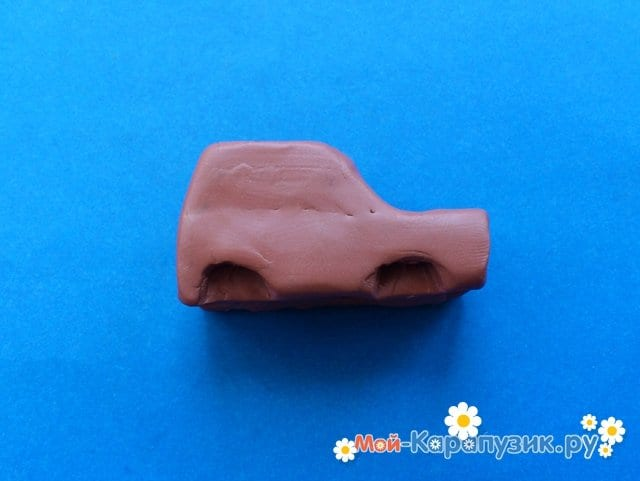 Лепка машины из пластилина - фото 5