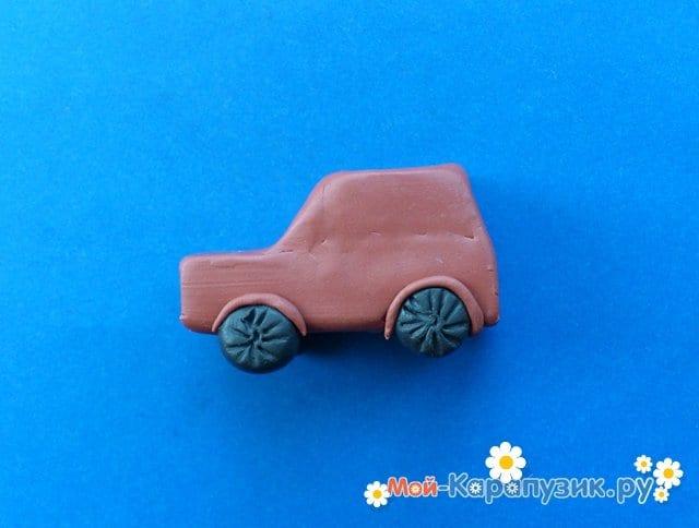 Лепка машины из пластилина - фото 8