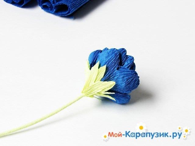 Изготовление хризантемы из бумаги - фото 11