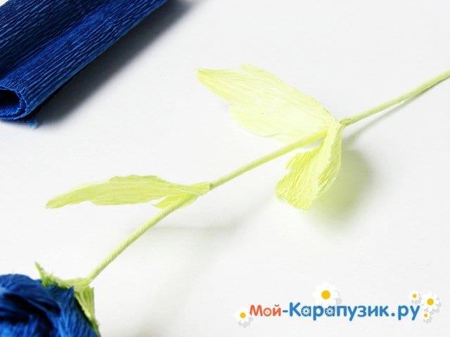 Изготовление хризантемы из бумаги - фото 13