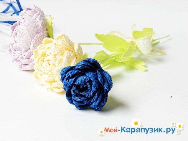 Изготовление хризантемы из бумаги - фото 14