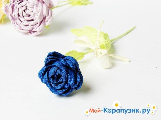Изготовление хризантемы из бумаги - фото 15