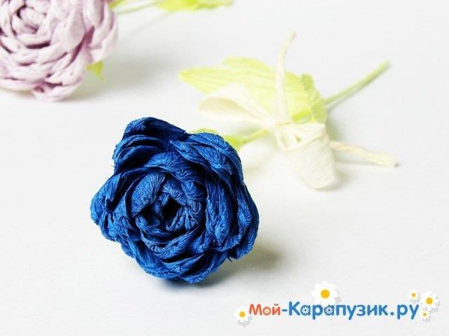 Изготовление хризантемы из бумаги - фото 16
