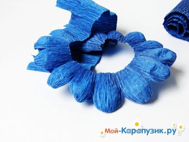 Изготовление хризантемы из бумаги - фото 6