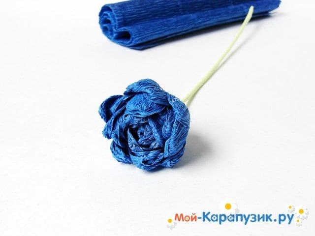 Изготовление хризантемы из бумаги - фото 9
