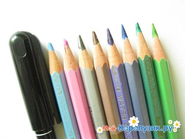 Поэтапное рисование глаза цветными карандашами - фото 1