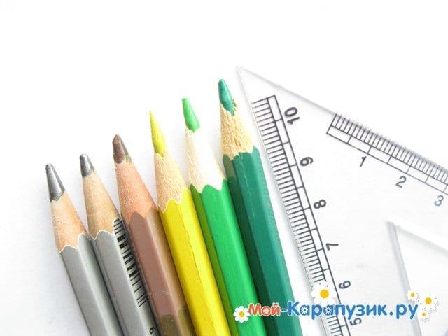 Поэтапное рисование города цветными <i>город</i> карандашами - фото 1