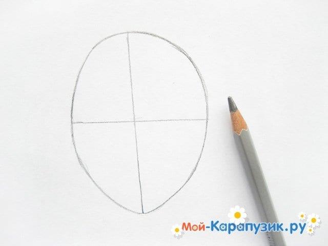 Поэтапное рисование лица девушки карандашами - фото 2