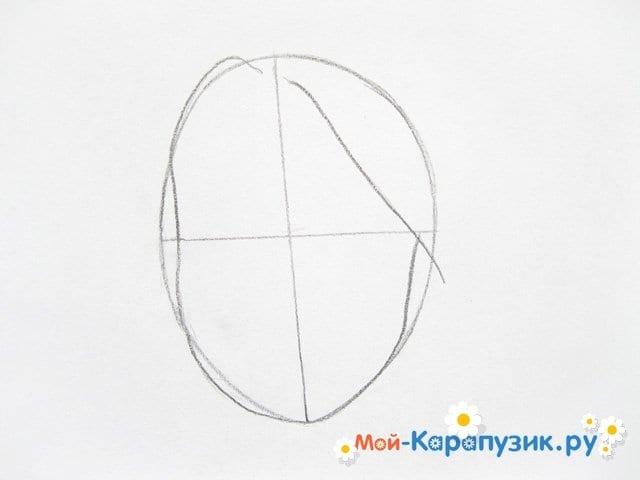 Поэтапное рисование лица девушки карандашами - фото 3