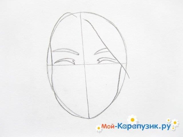 Поэтапное рисование лица девушки карандашами - фото 4