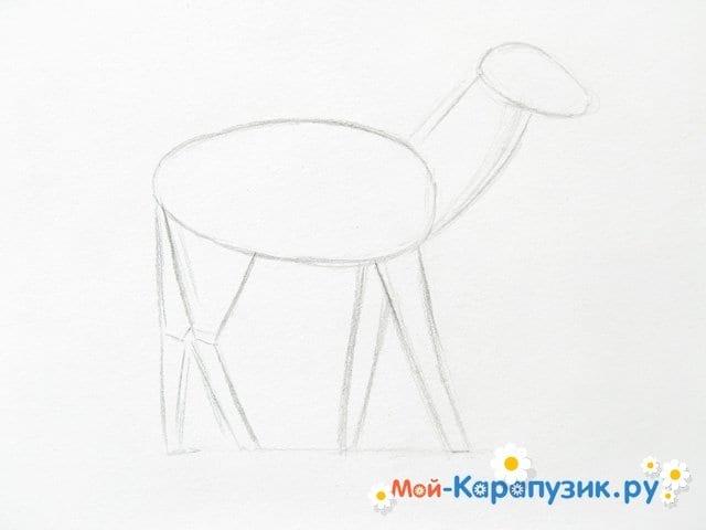 Поэтапное рисование оленя цветными карандашами - фото 4