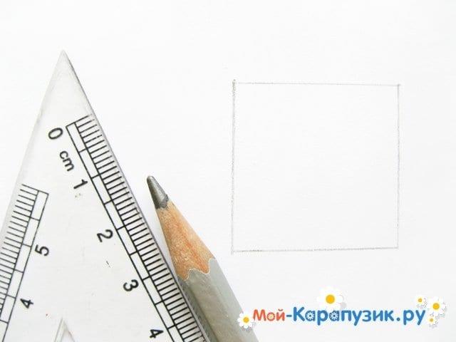 Поэтапное рисование Пятачка цветными карандашами - фото 2