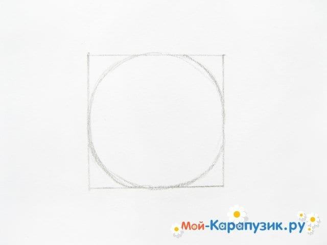 Поэтапное рисование Пятачка цветными карандашами - фото 3