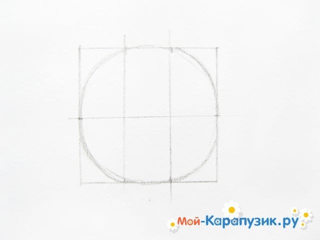 Поэтапное рисование Пятачка цветными карандашами - фото 4