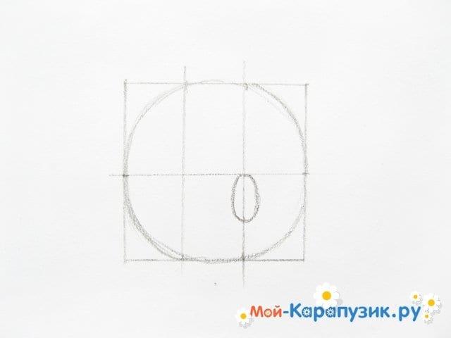 Поэтапное рисование Пятачка цветными карандашами - фото 5