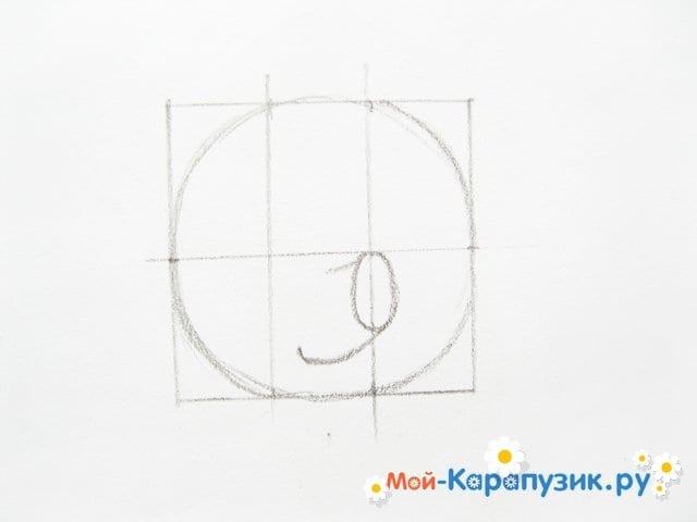 Поэтапное рисование Пятачка цветными карандашами - фото 6