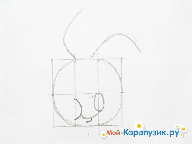 Поэтапное рисование Пятачка цветными карандашами - фото 8