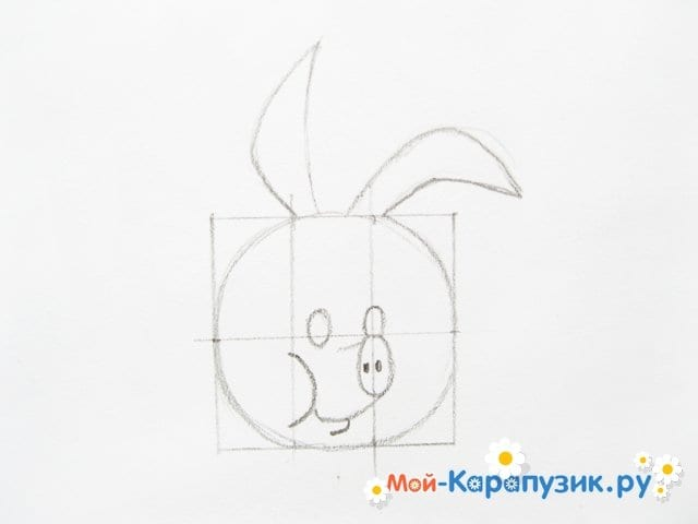Поэтапное рисование Пятачка цветными карандашами - фото 9
