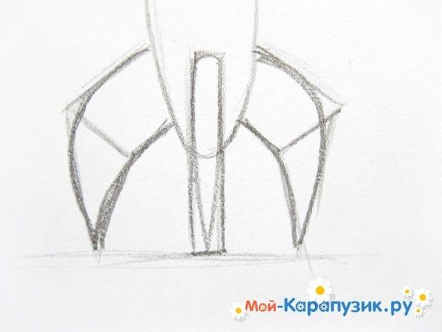 Поэтапное рисование космической ракеты цветными карандашами - фото 4