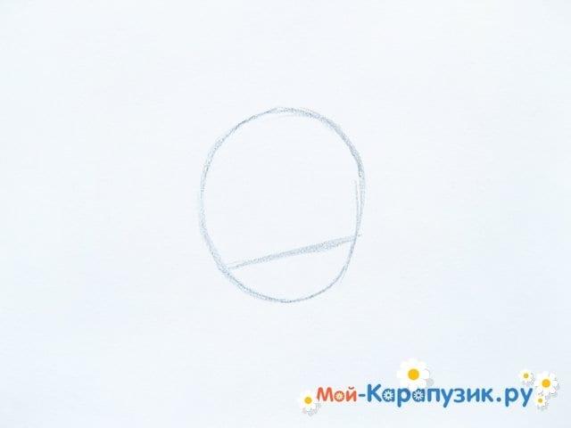 Поэтапное рисование Тора цветными карандашами - фото 2