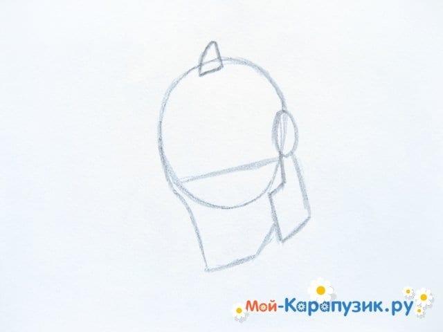Поэтапное рисование Тора цветными карандашами - фото 3
