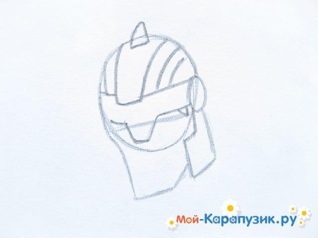 Поэтапное рисование Тора цветными карандашами - фото 4