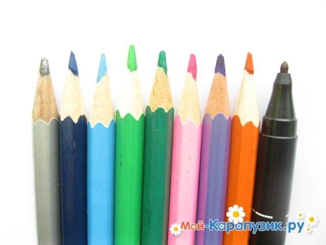 Поэтапное рисование замка цветными карандашами - фото 1